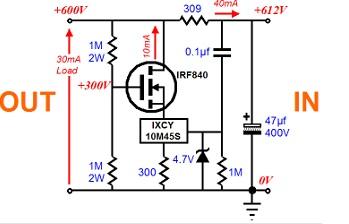 STAB 600V IRF 840 IXCY10M45S